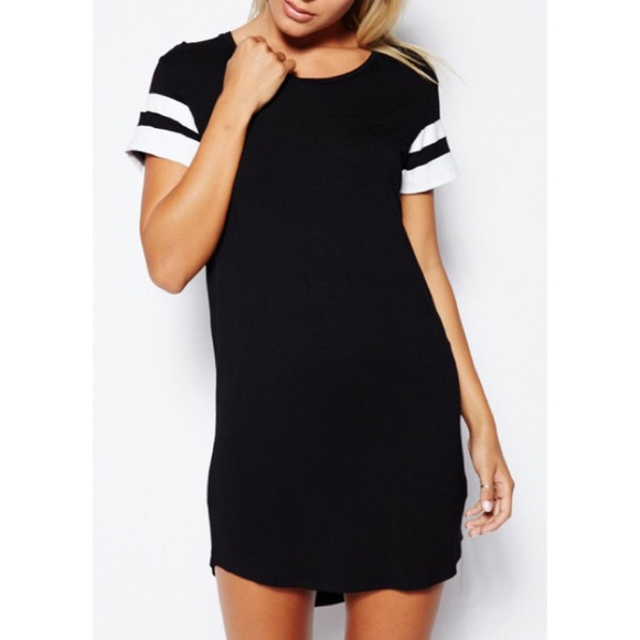 67 off boutique dresses skirts sporty stripe sleeve t for Sporty t shirt dress