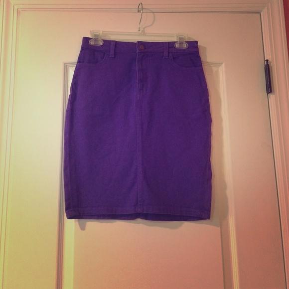 9b24925015 American Apparel Skirts | Purple Denim Skirt | Poshmark