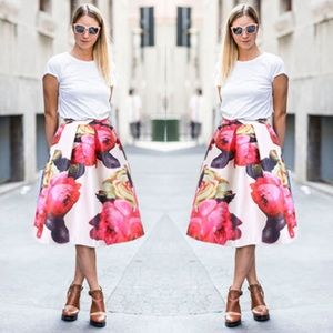 45% off Dresses & Skirts - Floral Pink Full Midi Skirt from ...