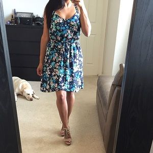 Dresses & Skirts - Blue floral strappy dress