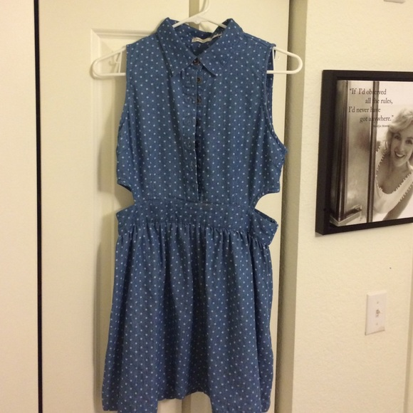 Poetry Dresses & Skirts - Cutout denim dress with collar