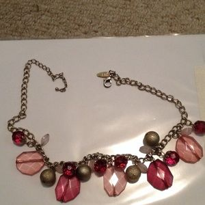 New York & Company Jewelry - Final price Gold and pink necklace!