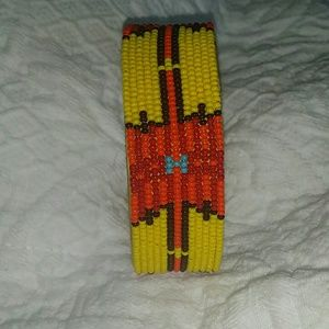 Accessories - Seed bead tribal cuff