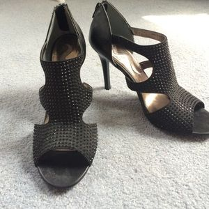Shoes - Black Cut Out Heels