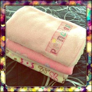 One Baby girl blanket