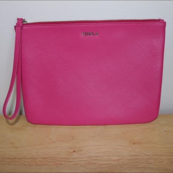 Furla Metropolis pink leather clutch OgzZUNz