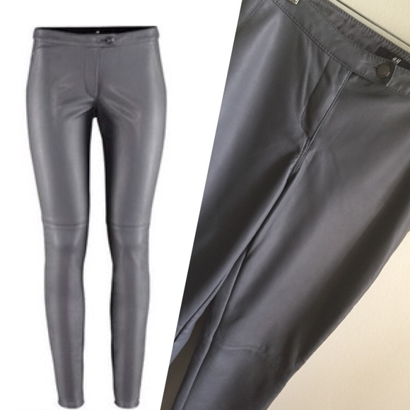 H&M - Grey Leather Pants from Lee's closet on Poshmark