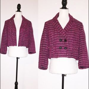 Pink Tweed Style Blazer/Jacket