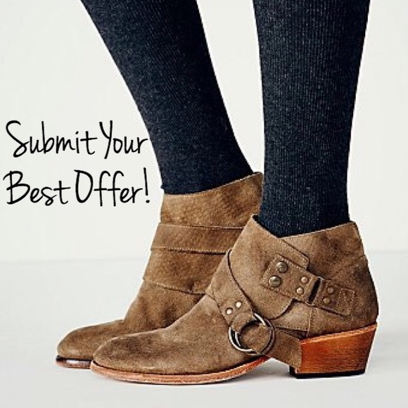 Free People Tortuga Suede Ankle Boots Booties