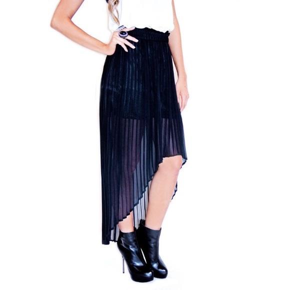 75 xhilaration dresses skirts pleated high low
