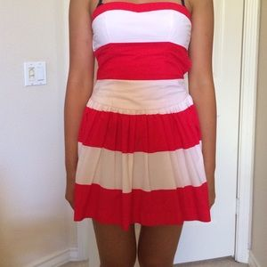 93% off Abercrombie & Fitch Dresses & Skirts - Strapless Red White ...