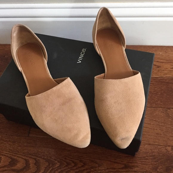 Vince Leather d'Orsay Flats discount 2015 new Ulgpi