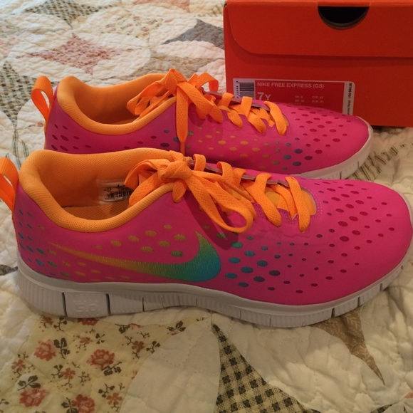 cheaper 6dfff ee6e5 Pink Multi-Colored Nike Free Express Running Shoes