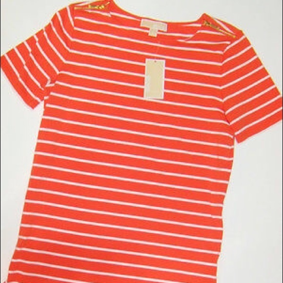 Orange And White Striped Shirt | Is Shirt