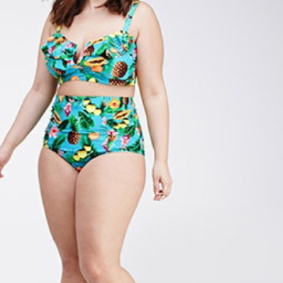 High waisted bikini plus size forever 21