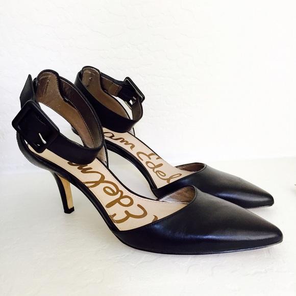 12555df83d75e Sam Edelman Okala Ankle Strap Mid Heel Leather. M 55aed5b8dbda251db301fe2f