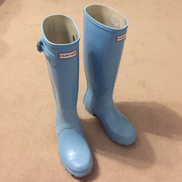 Baby Blue Hunter Rain Boots | Poshmark