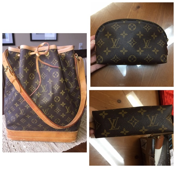 0aa336ff40 SALE!! Louis Vuitton Noe Gm and cosmetic bag