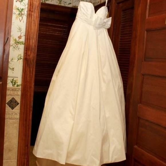David\'s Bridal Dresses   Beautiful Polished Cotton Wedding Dress ...
