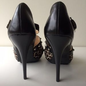 MICHAEL Michael Kors Shoes - MICHAEL Michael Kors Stud Heel w/Leopard Calf Hair