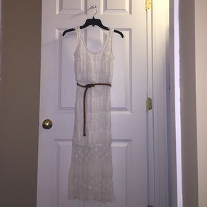 White lace Charlotte Russe sundress