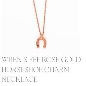 Wren Jewelry - Wren Rose Gold & Sapphire Horseshoe Pendant