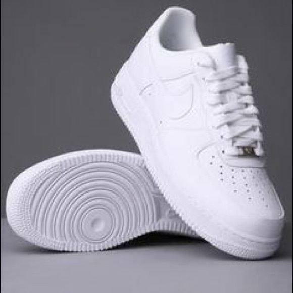 all white nike air force ones