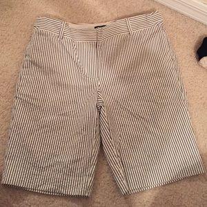 Seersucker J. Crew Shorts