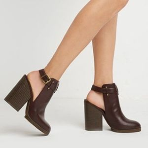 Free People Shoes - Burgundy Cut Out Boots