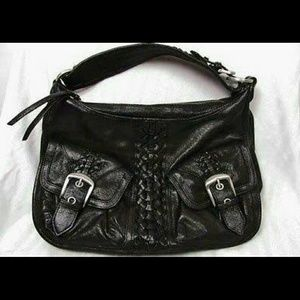 Junior Drake black leather handbag