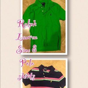 Ralph Lauren Tops - Boys size 8 polo shirts