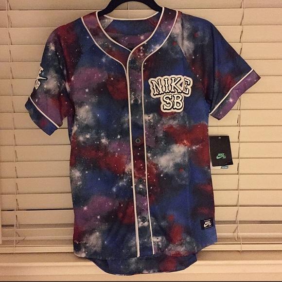 nike tops sb galaxy baseball jersey poshmark