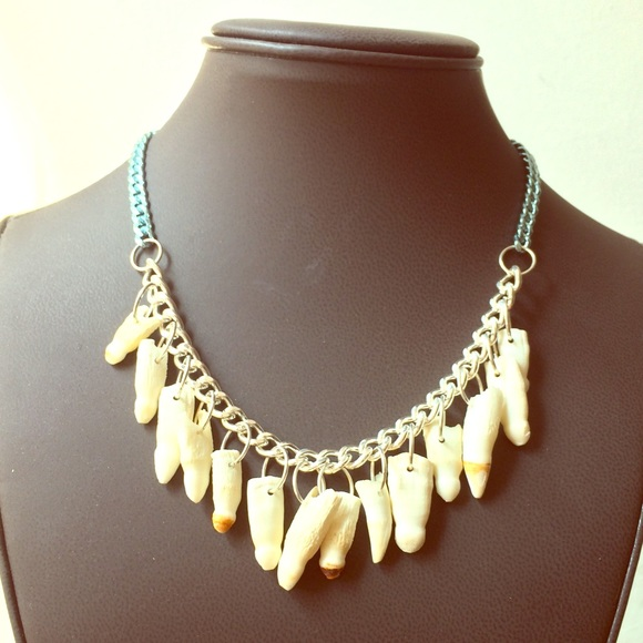 Copper Tooth Jewels Jewelry Alligator Tooth Necklace
