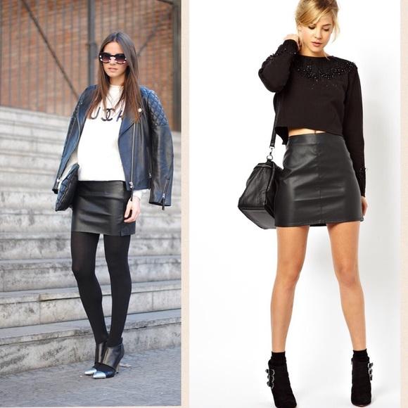 Asos Leather Skirt