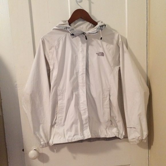 9d64ffaac White North Face rain jacket