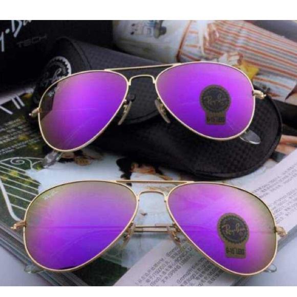 Purple Ray Ban Glasses