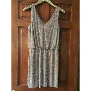 Cache Studded V Neck Dress