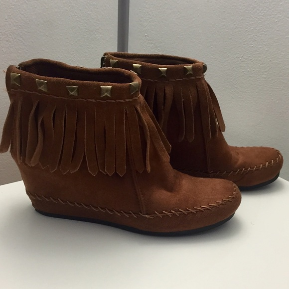 57% off Mossimo Supply Co. Boots - Target fringe suede moccasins ...