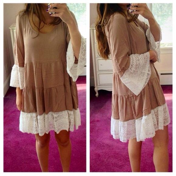 Mocha Lace Dress