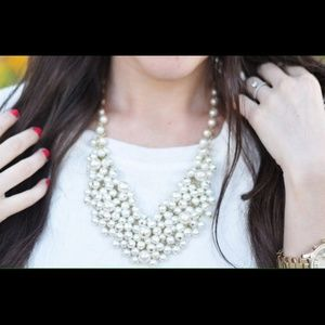 🌟NEW LIST🌟White Pearl Cluster Statement Necklace