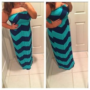 RESERVED Chevron maxi dress