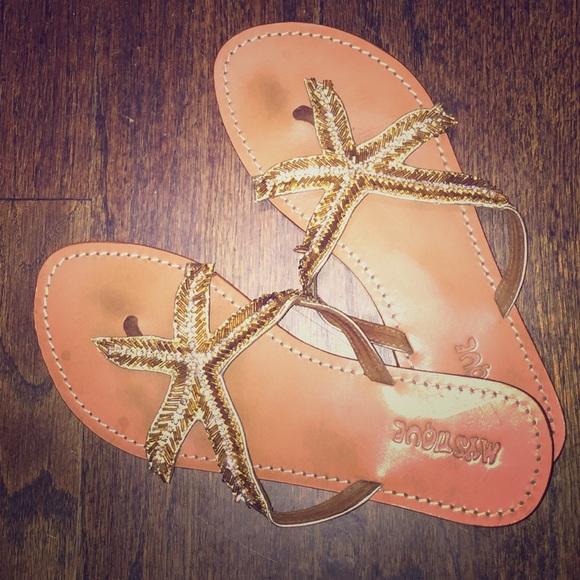 541102be4d911 Mystique beaded starfish sandals. M 55afdac78ae33e0efd024c54