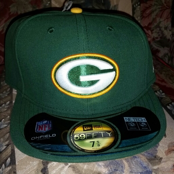 3444e8ff598 Green Bay Packers fitted hat size 75 8. M 55afe545e1d65f6307024e24