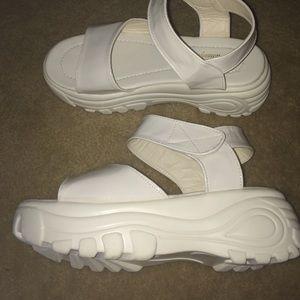 dc7b48fea0e UNIF Shoes - 90s Spice Girls White Platform Sandals