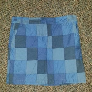 Cute patchwork skirt in various blues