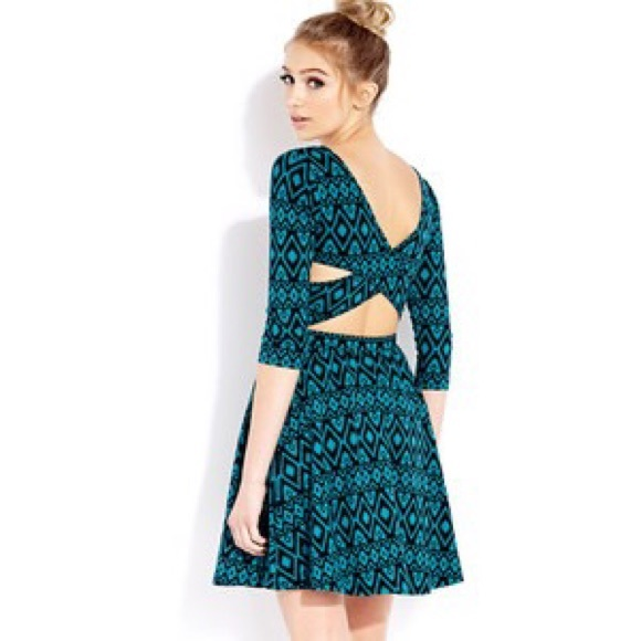 54% off Forever 21 Dresses & Skirts - Cutout Dress 3/4 Sleeves ...