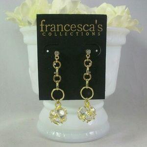 Francescas Collection Crystal Drop Dangle Earrings