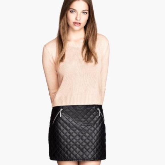 50% off H&M Dresses & Skirts - Quilted Faux Leather Skirt from ... : quilted faux leather skirt - Adamdwight.com