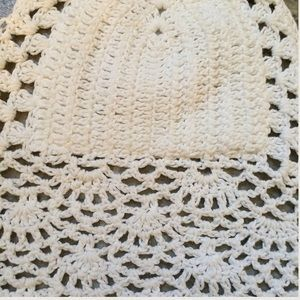 9048cabdf1531 LA Hearts Tops - White Crochet Knitted Bralette Halter Top