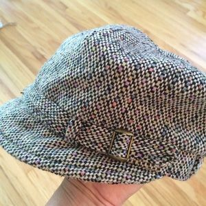Accessories - Newsboy Wool-blend Cap